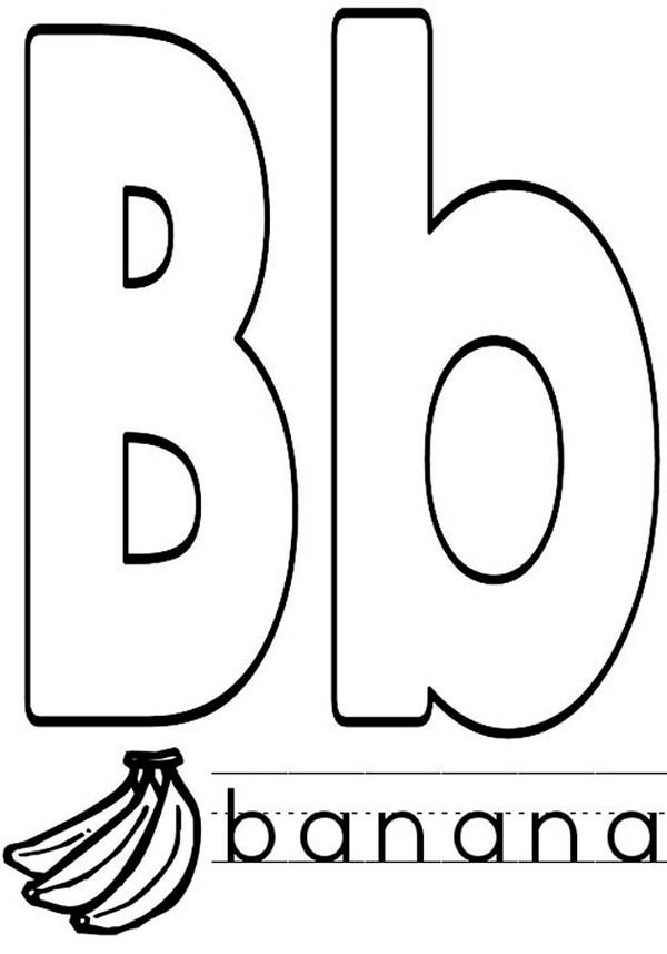 capital and small letter b coloring page capital and