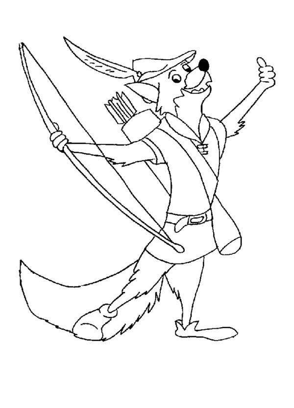 Drawing Robin Hood Coloring Pages : Best Place to Color