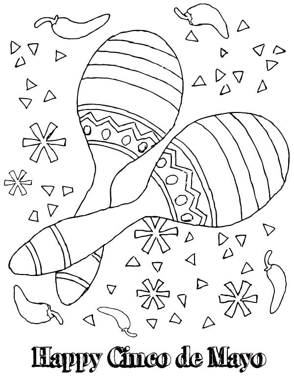 Maracas Colouring Pages