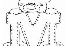 Letter M Coloring Page For Kids : Best Place to Color