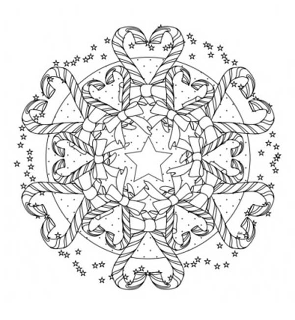 Mandala Christmas Candy Cane Coloring Pages : Best Place