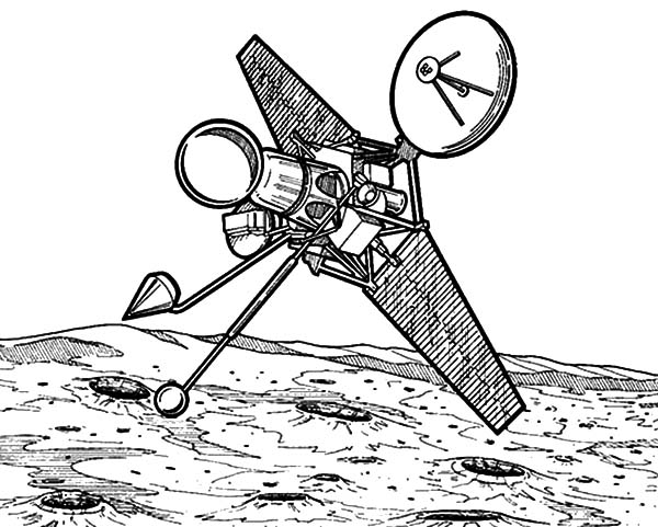 Observation Satellite Space Travel Coloring Pages : Best