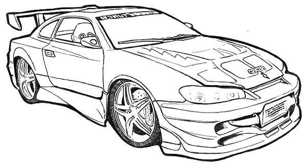 Racing Camaro Cars Coloring Pages: Racing Camaro Cars