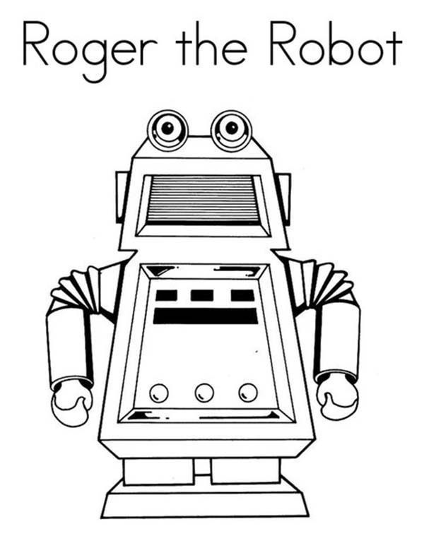 Roger The Robot Coloring Pages : Best Place to Color