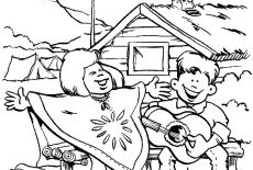 Scouting Equipment Coloring Pages : Best Place to Color