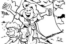 Scouting Way Of Greeting People Coloring Pages : Best