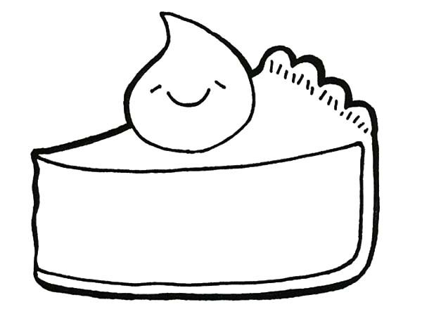 Slice Cake Coloring Coloring Coloring Pages