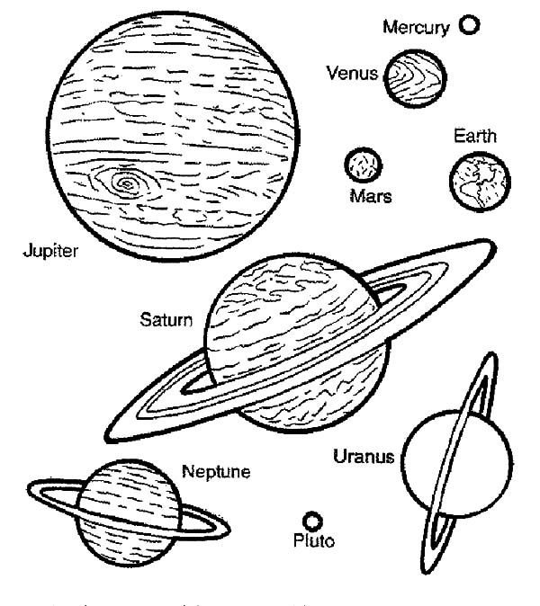 Space Travel Planets Coloring Pages: Space Travel Planets
