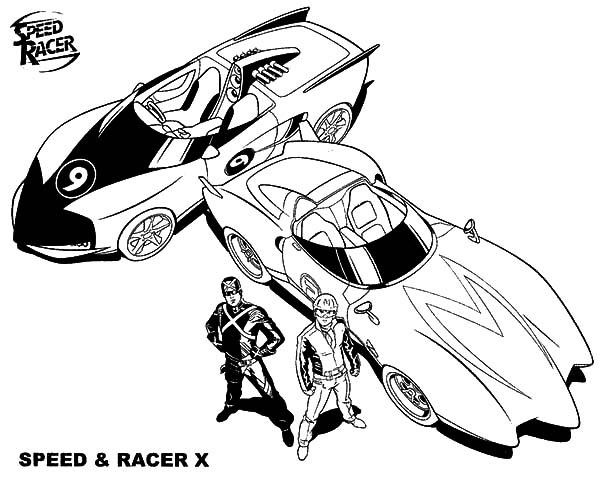 The Famous Speed And Racer X From Speed Racer Coloring