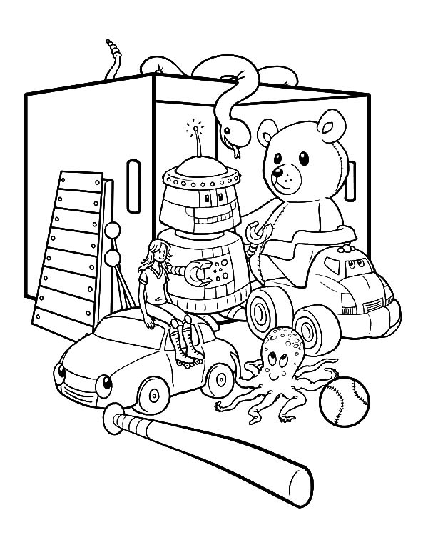 Box Full Of Toys Coloring Pages : Best Place to Color