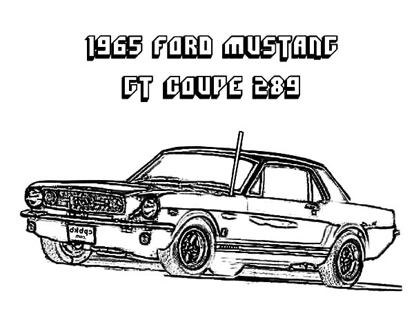 1965 Ford Mustang Clip Art Drawing Sketch Coloring Page