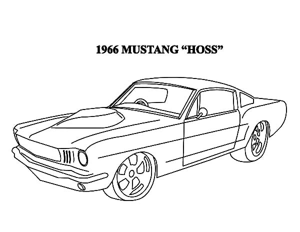 Free coloring pages of ford cobra