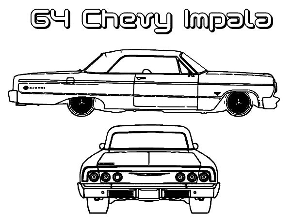 Free 63 impala coloring pages