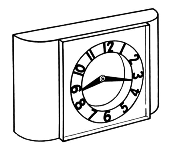 Alarm Clock Coloring Pages : Best Place to Color