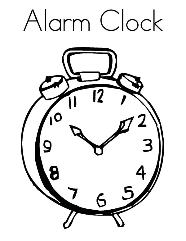 Alarm Clock Reminder Coloring Pages : Best Place to Color