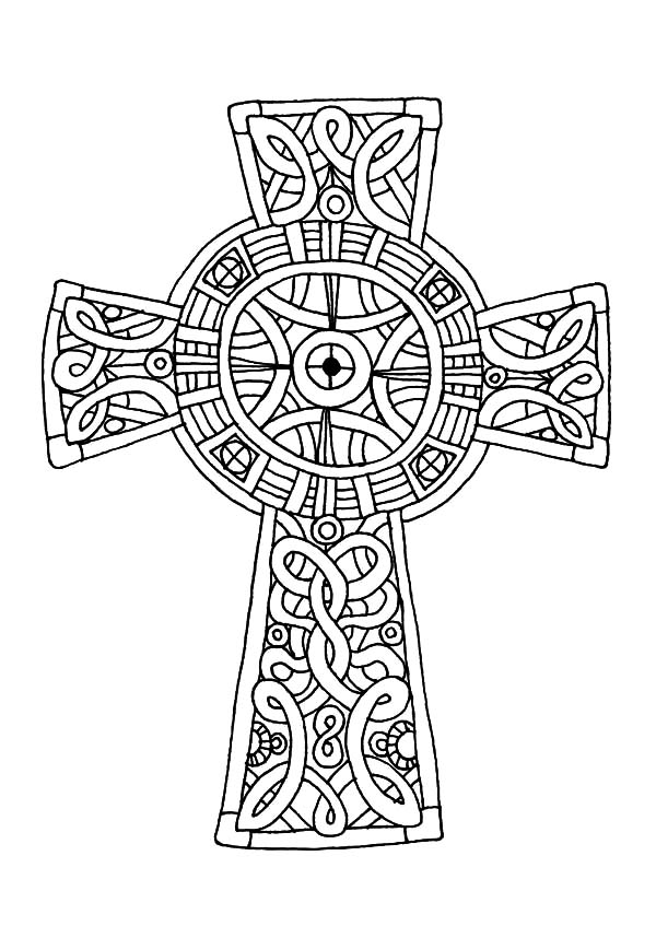 Amazing Celtic Cross Coloring Pages : Best Place to Color