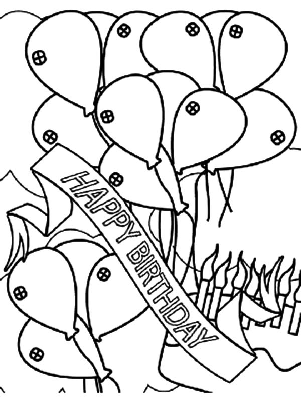 Coloring Party Banner Coloring Pages
