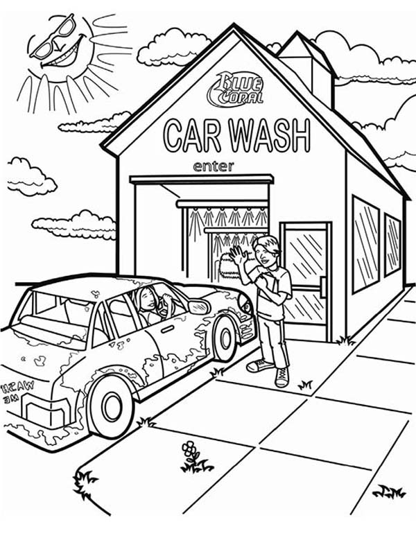 Blue Coral Car Wash Coloring Pages : Best Place to Color