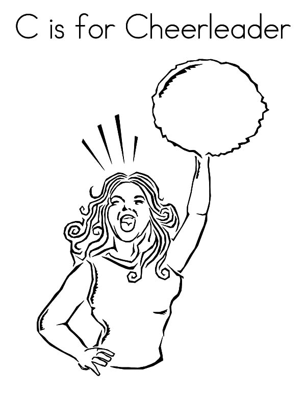 Cute Little Girl Cheerleader Coloring Pages: Cute Little