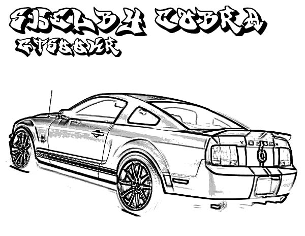 Classic Ford Mustang Car Coloring Pages : Best Place to Color