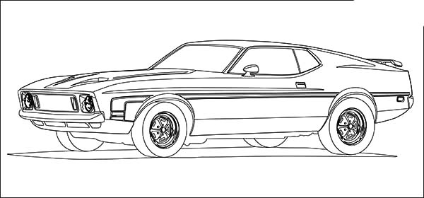 Pin Lowrider-mustang-colouring-pages on Pinterest