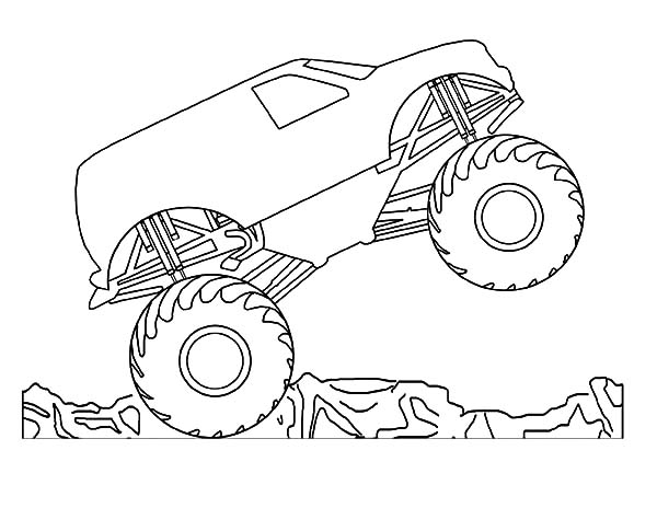 Car Tire Monster Trucks Jumping Coloring Pages : Best