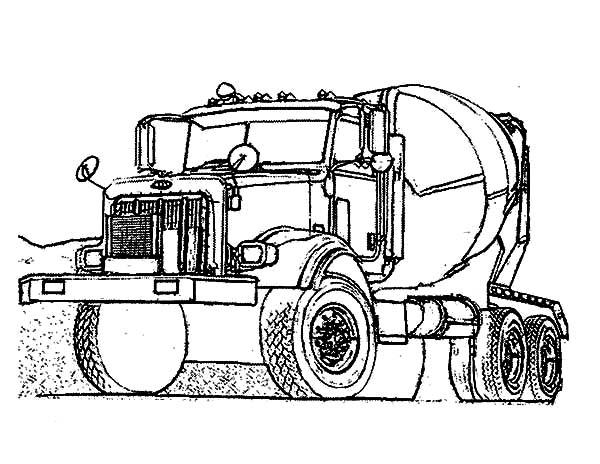 Car Transporter on Contruction Site Coloring Pages: Car