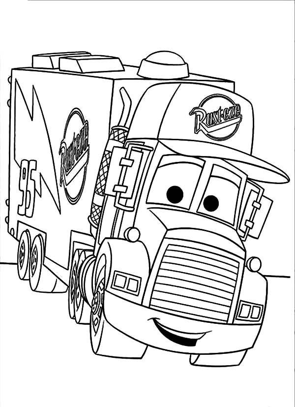 Car Transporter Mack The Truck Coloring Pages : Best Place to Color