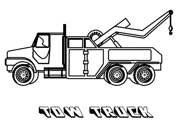 Tow Truck: Tow Truck Coloring Pages