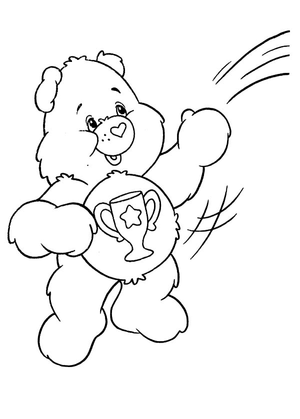 Champ Bear Coloring Page Coloring Pages