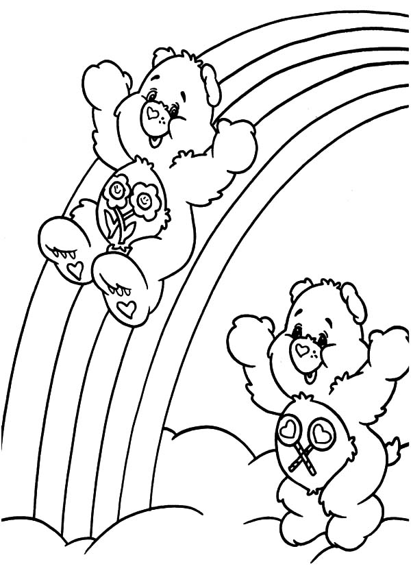 Rainbow Care Bear Pages Coloring Pages