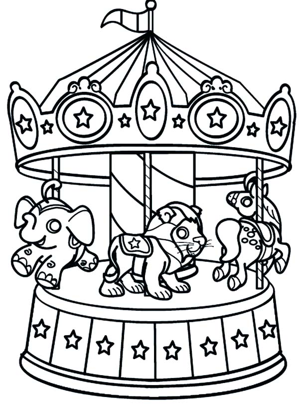 20 Circus Carousel Animals Coloring Pages Ideas And Designs