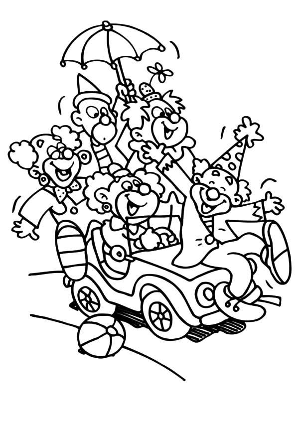 Free coloring pages of bumper cars