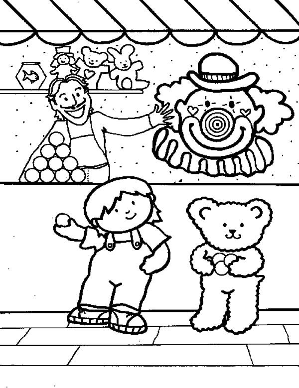 Carnival Games Coloring Pages : Best Place to Color