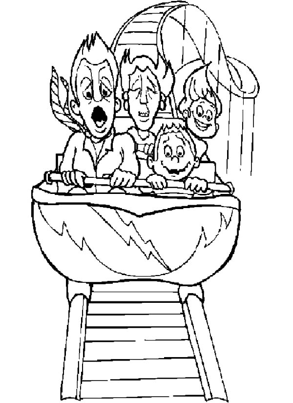 Roller Coaster Car Coloring Sheet Coloring Pages