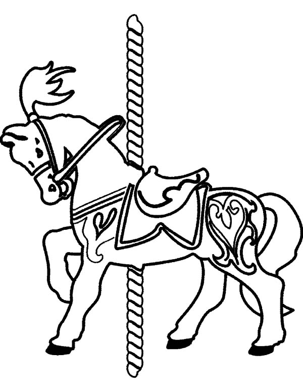 Carousel Carnival Horse Coloring Pages : Best Place to Color