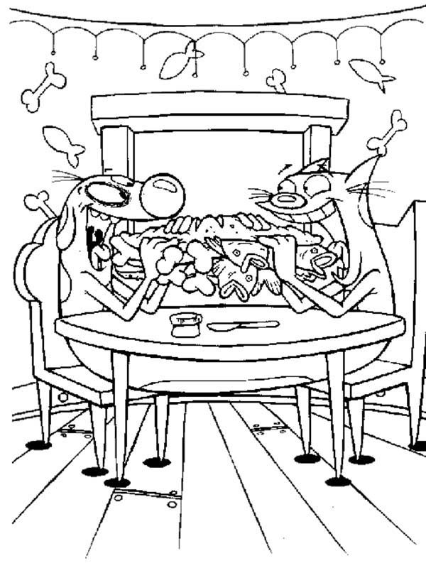 Catdog Have A Breakfast Coloring Pages : Best Place to Color