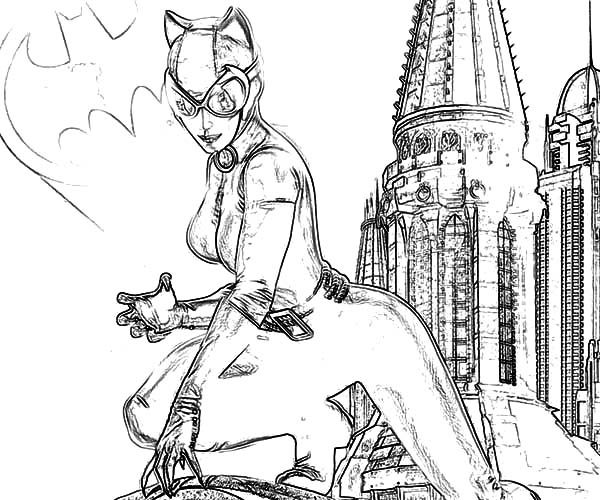 Catwoman And Batman Sign Coloring Pages: Catwoman and