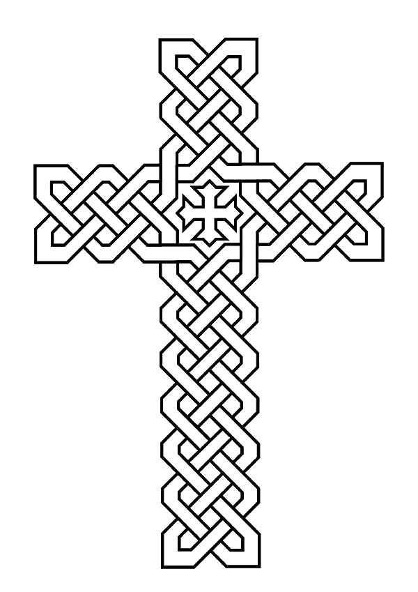 Hard Coloring Pages Of Crosses Coloring Pages