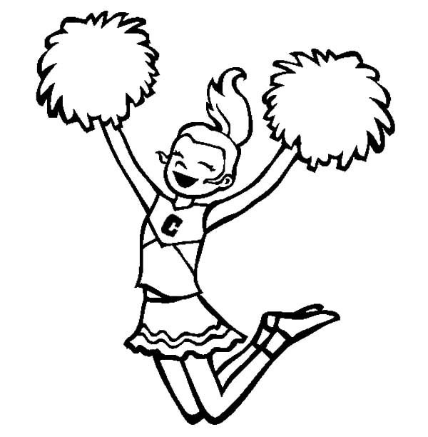 Football Player And Cheerleader Coloring Pages Sketch