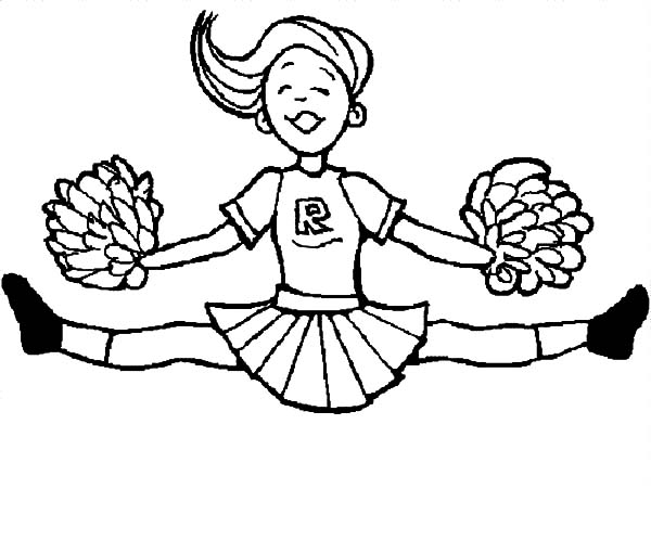 cheerleader perform great stunt coloring pages  best