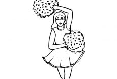 Cheerleader Perform Great Stunt Coloring Pages : Best