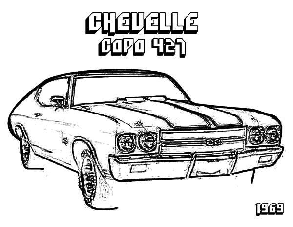 57 Chevy Car Coloring Pages