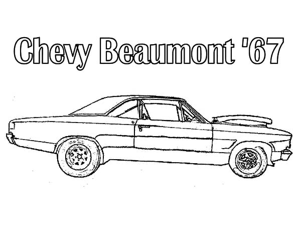 Chevy Beaumont 1967 Cars Coloring Pages : Best Place to Color