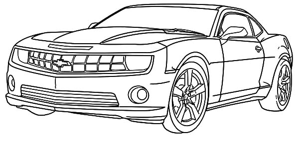 Chevy Camaro Cars Coloring Pages: Chevy Camaro Cars