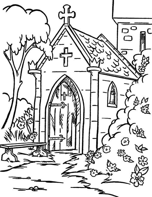 Drawing Church Coloring Pages: Drawing Church Coloring