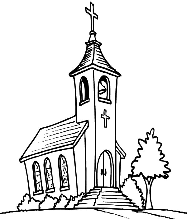 Church Tower With Bell Coloring Pages : Best Place to Color