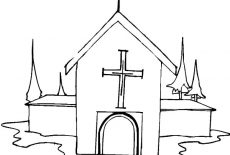 Country Church Coloring Pages : Best Place to Color