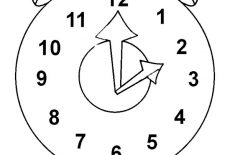 Clock Ringing At Twelve O'Clock Coloring Pages : Best