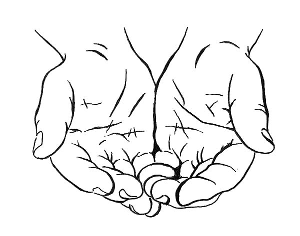 Cupped Hands Coloring Pages: Cupped Hands Coloring Pages